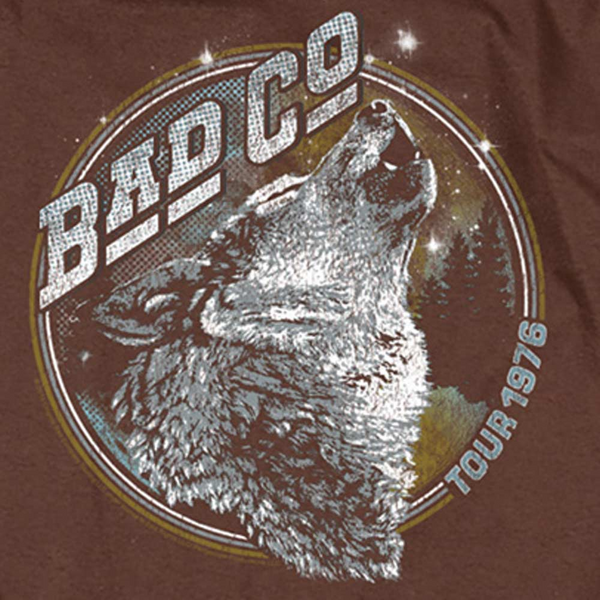 BAD COMPANY Impressive Long Sleeve T-Shirt, Wolf Tour 1976