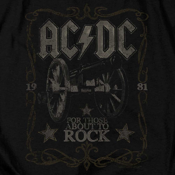 AC/DC Impressive Long Sleeve T-Shirt, For Those About To Rock