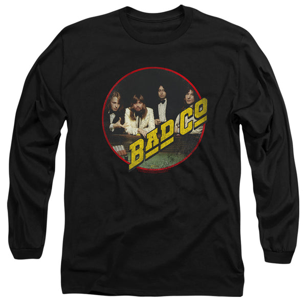 BAD COMPANY Impressive Long Sleeve T-Shirt, Distressed Group Photo