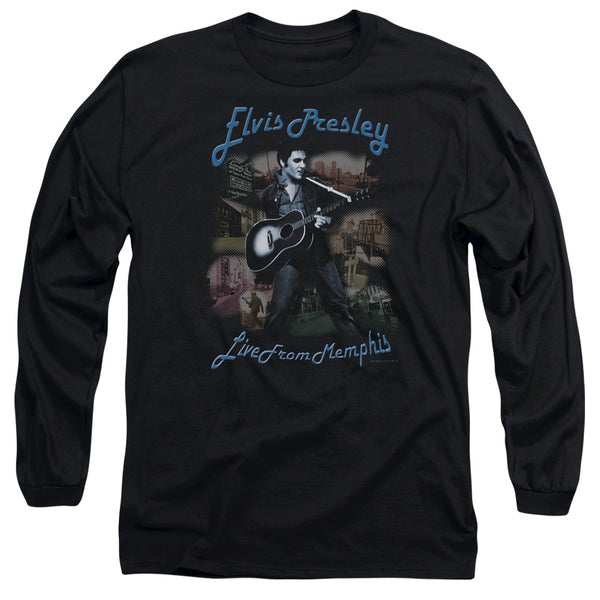 ELVIS PRESLEY Impressive Long Sleeve T-Shirt, Live From Memphis
