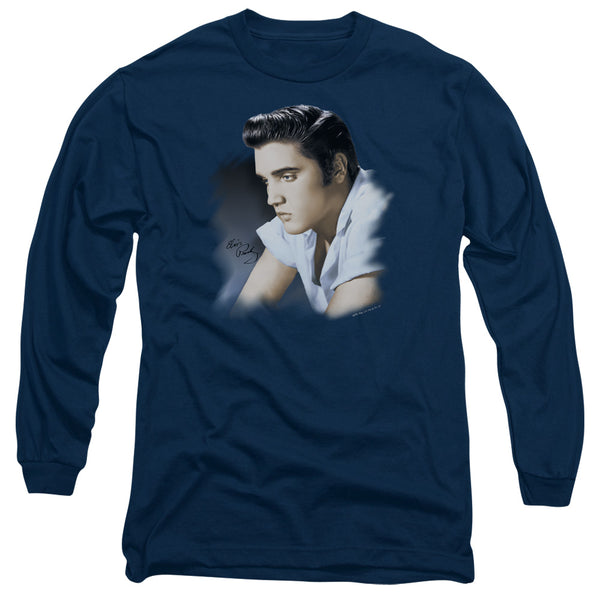 ELVIS PRESLEY Impressive Long Sleeve T-Shirt, Blue Profile