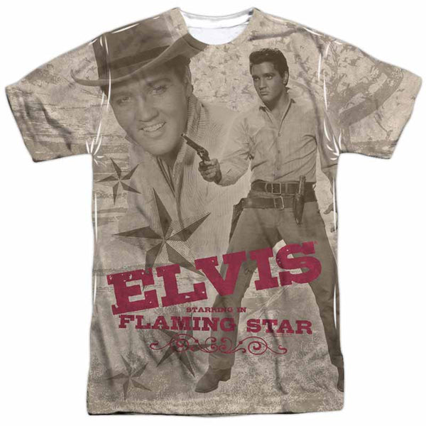 ELVIS PRESLEY Outstanding T-Shirt, Flaming Star