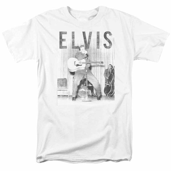 ELVIS PRESLEY Impressive T-Shirt, On The Stage With The Band