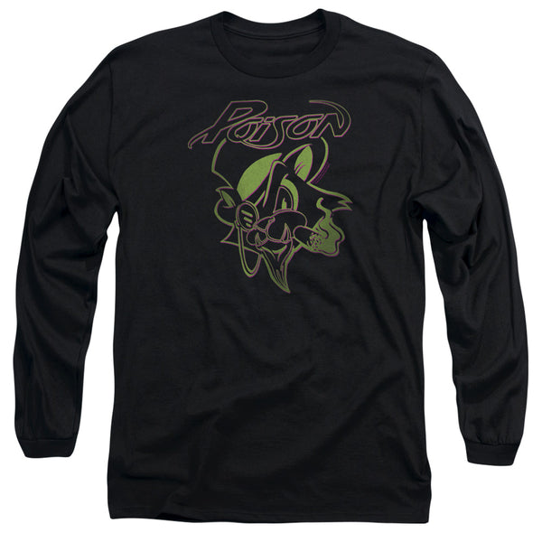 POISON Impressive Long Sleeve T-Shirt, Smoking Cat