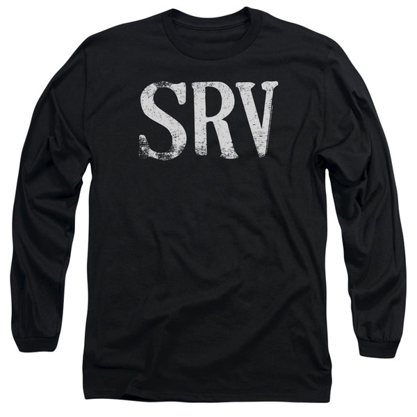 STEVIE RAY VAUGHAN Impressive Long Sleeve T-Shirt, Distressed Logo