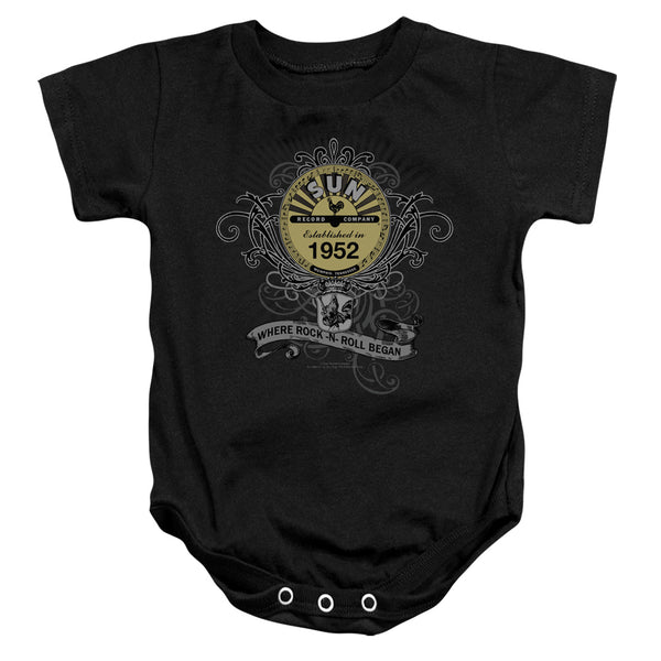 SUN RECORDS Deluxe Infant Snapsuit, Rockin Scrolls