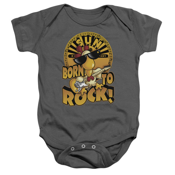 SUN RECORDS Deluxe Infant Snapsuit, Born To Rock