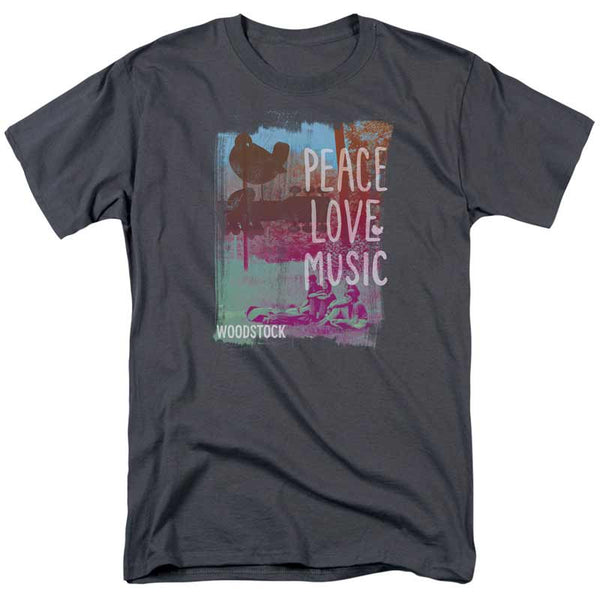 WOODSTOCK Impressive T-Shirt, Peace Love Music