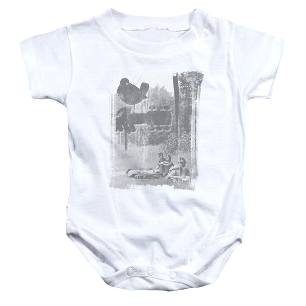 WOODSTOCK Deluxe Infant Snapsuit, Hippies In A Field