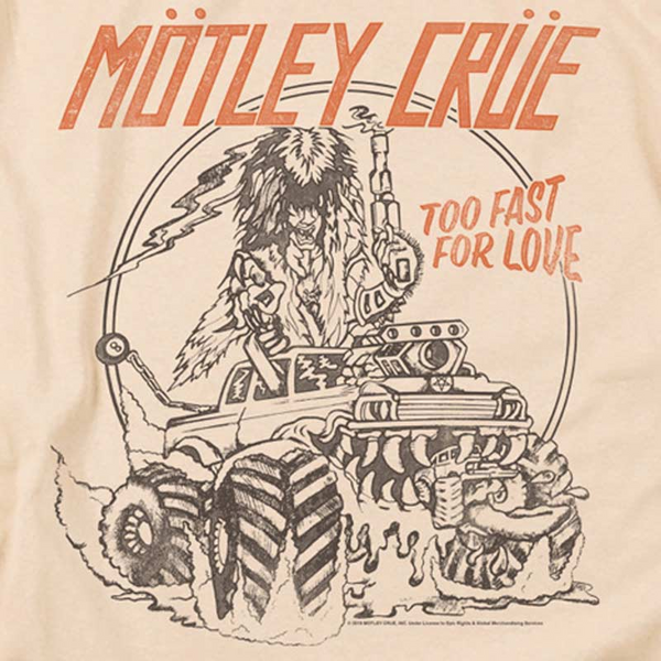 MOTLEY CRUE Impressive T-Shirt, Too Fast For Love