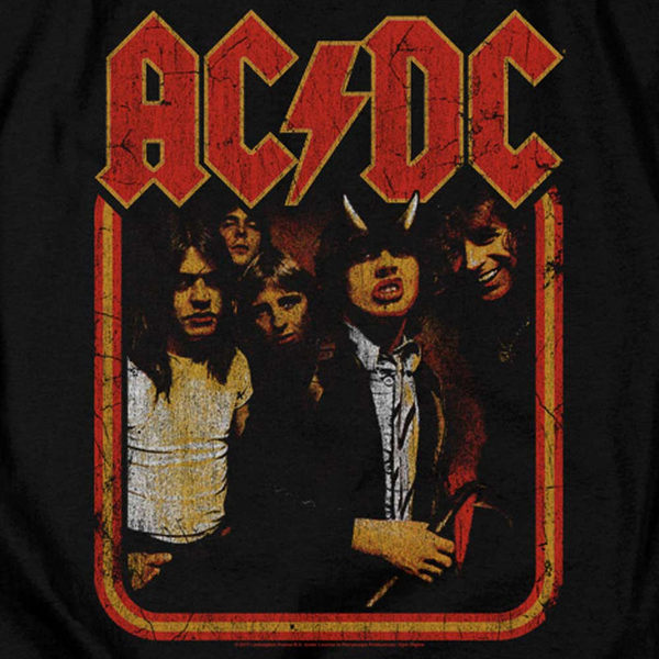 AC/DC Impressive Long Sleeve T-Shirt, Distressed Highway to Hell