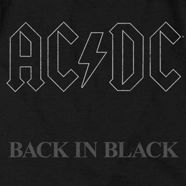 AC/DC Impressive Tank Top, Back In Black