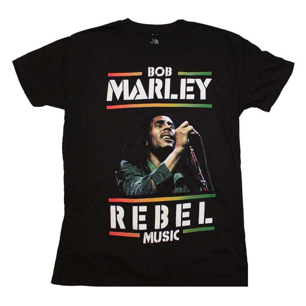 BOB MARLEY Elite T-Shirt, Rebel Music