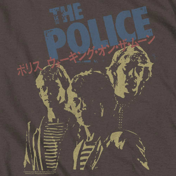 THE POLICE Impressive Long Sleeve T-Shirt, Japanese Poster