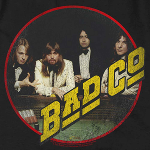 BAD COMPANY Impressive T-Shirt, Distressed Group Photo