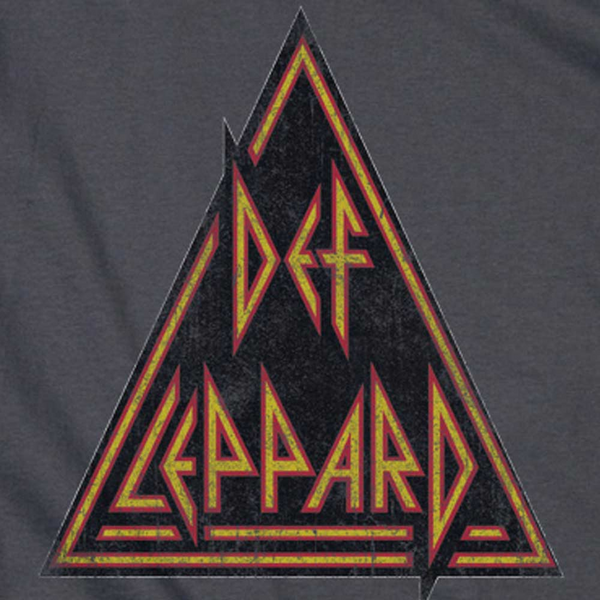 DEF LEPPARD Impressive Long Sleeve T-Shirt, Distressed Logo
