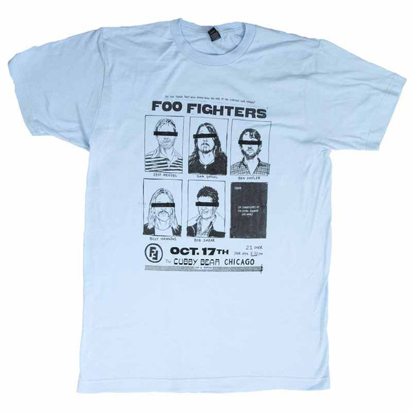 FOO FIGHTERS Top Notch T-Shirt, Cubby Bear Chicago