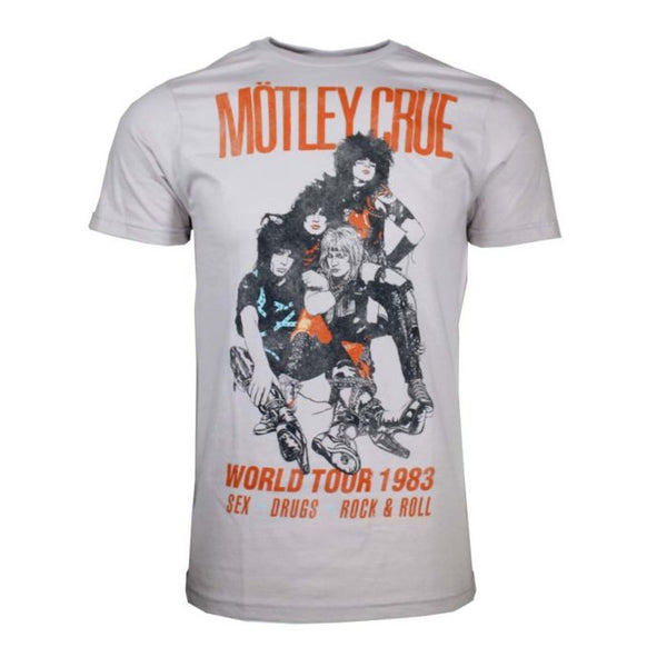 MOTLEY CRUE Top Notch T-Shirt, World Tour 1983