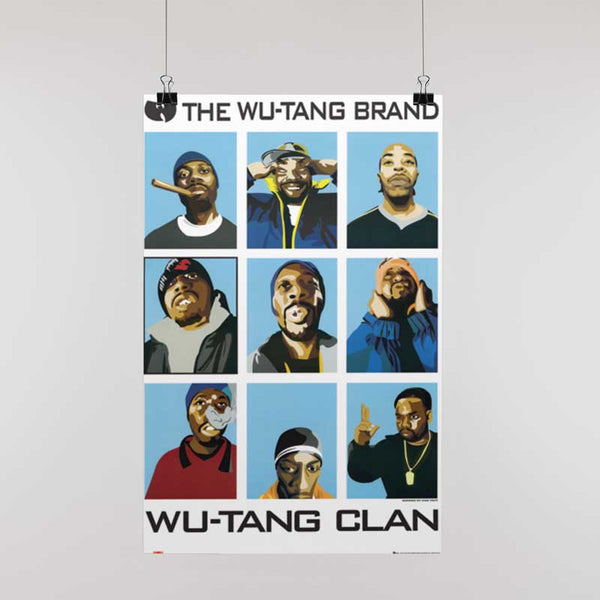 WU-TANG CLAN Gorgeous Poster, Members