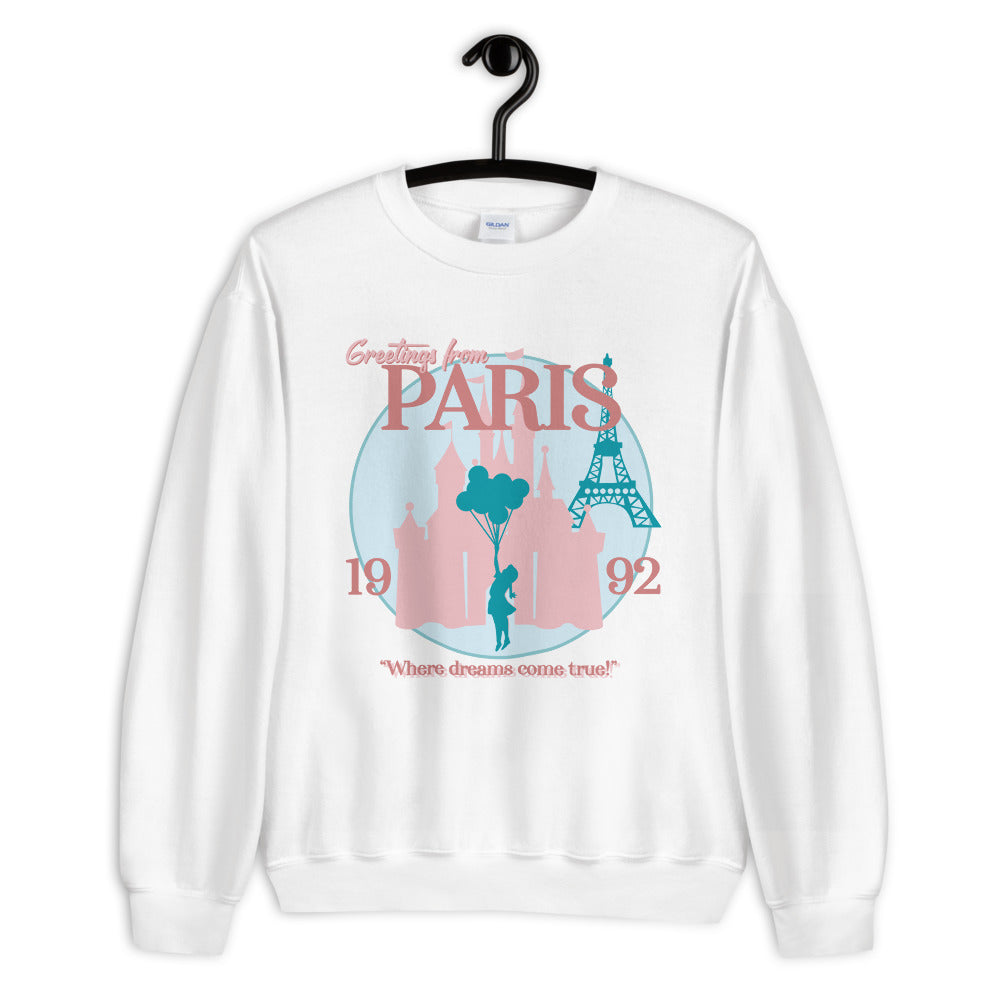 Greetings From Paris | Oversized Pullover