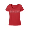 Gimme All Your Lovin Bling Ladies Scoop T-Shirt