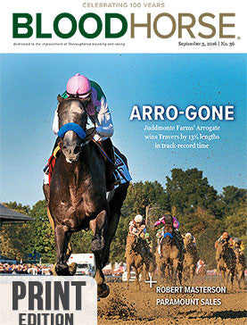 BloodHorse: September 3, 2016 print