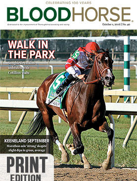 BloodHorse: October 1, 2016 print
