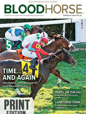 BloodHorse: October 22, 2016 print