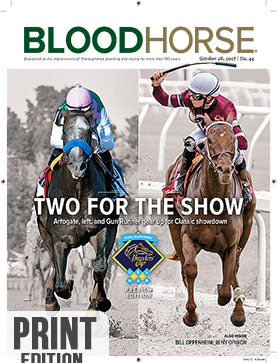 BloodHorse:  October 28, 2017 print