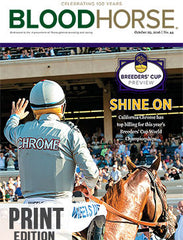BloodHorse: October 29, 2016 print
