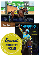American Pharoah Salute & BloodHorse 100-year Anniversary Calendar - Collector's Package