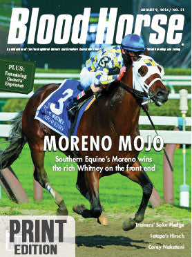 The Blood-Horse: Aug 9, 2014 Print