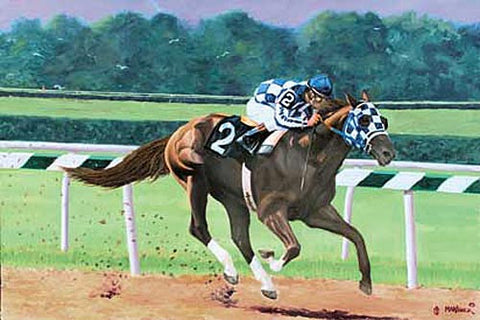 Secretariat Belmont Stakes 1973 by Nick Martinez