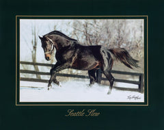 Seattle Slew in the Snow by Tony Leonard