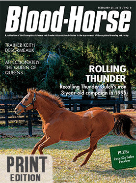 The Blood-Horse: Feb 21, 2015 Print