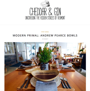 Andrew Pearce Bowls featured on Cheddar & Gin - The Jackson House Inn