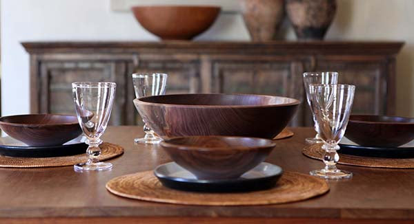 Wooden bowls by Andrew Pearce