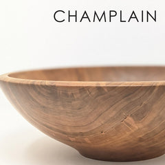 Wooden Bowl Classic Round Champlain Collection