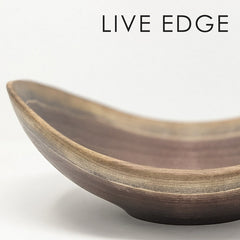 Wooden Bowl Oval Live Edge
