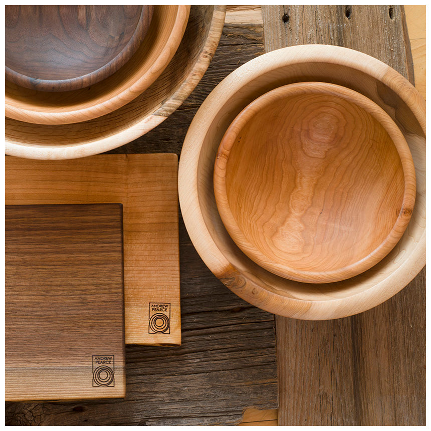 Seconds & Andrew Pearce Bowls | Premium wood bowls cutting boards \u0026 wood plates