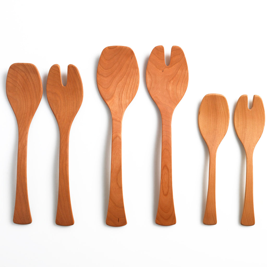 Wooden Salad Servers - Andrew Pearce Bowls