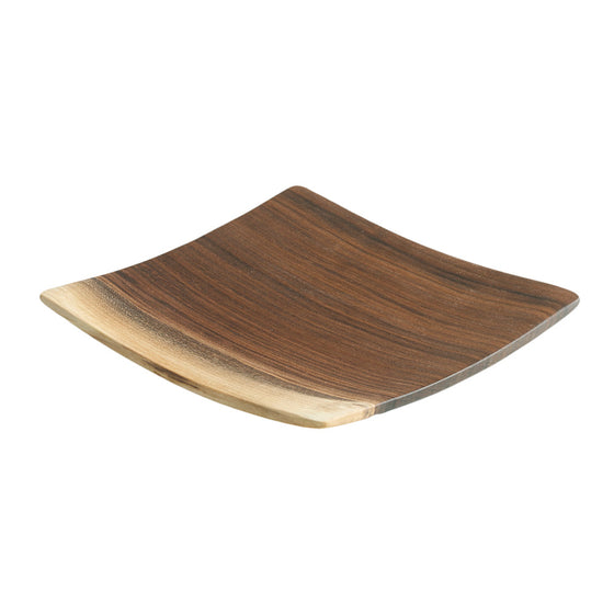 Echo Collection Square Wooden Plate in Black Walnut - Andrew Pearce Bowls