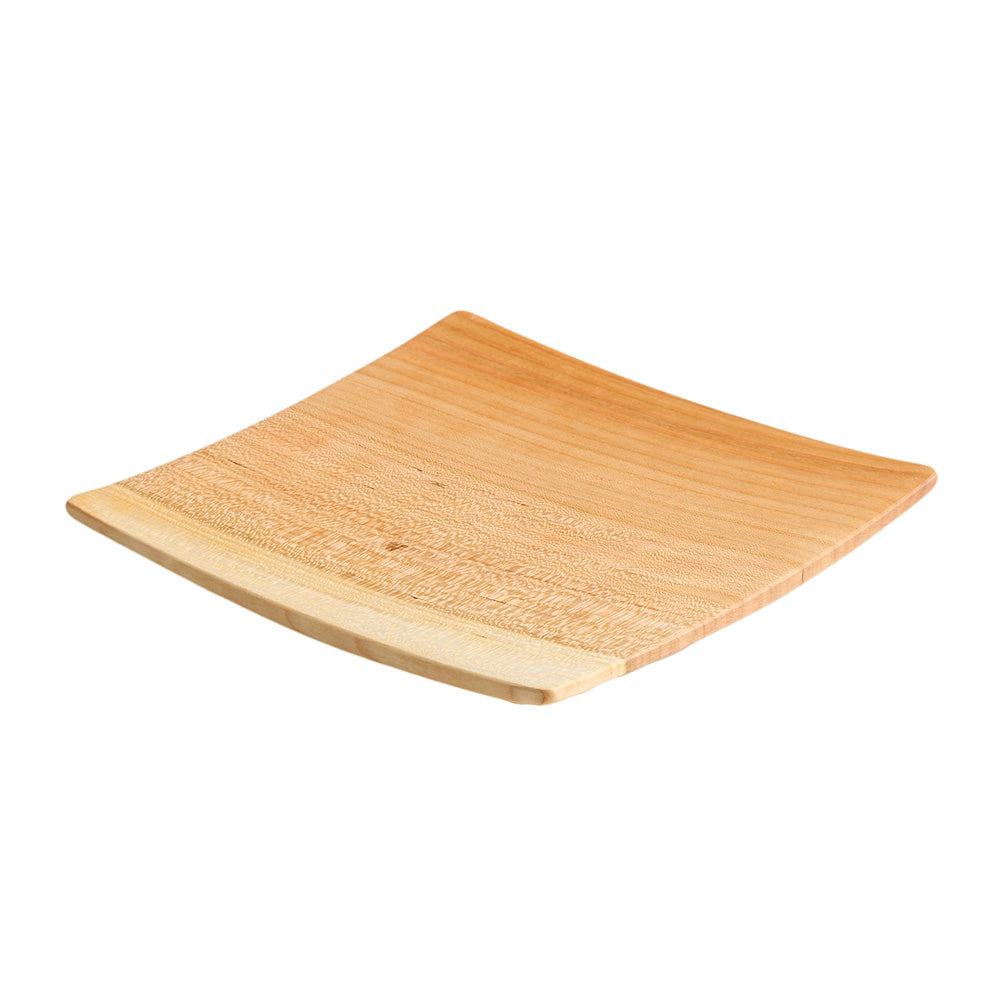Echo Collection Square Wooden Plate in Cherry - Andrew Pearce Bowls ...  sc 1 st  Andrew Pearce Bowls & Cherry Wooden Plate - Echo Collection Square Wood Plate in Cherry ...