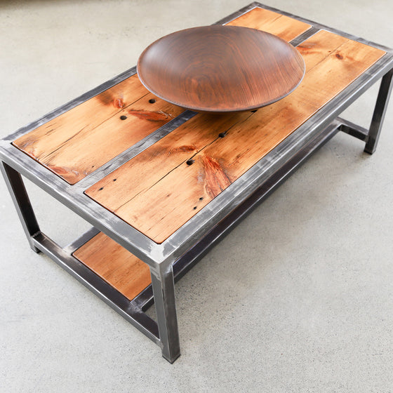 Coffee Table with box steel legs and frame - Andrew Pearce Bowls
