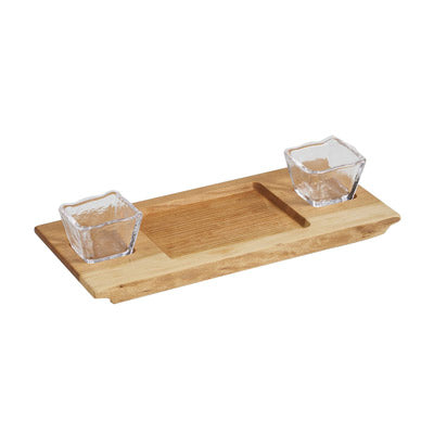 Dunmore Board with 2 Glass Bowls
