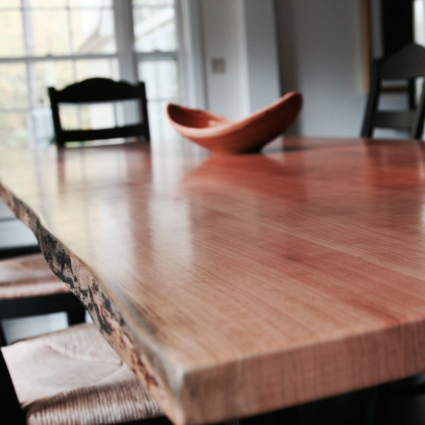 Cherry Live Edge Dining Room Table