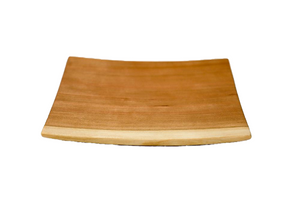 Echo Collection Square Wooden Plate in Cherry - Andrew Pearce Bowls
