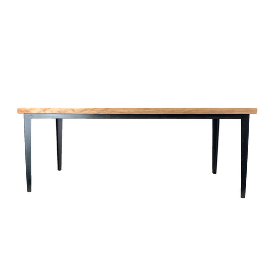 Coffee Table - Birch Wood w/ tapered metal legs