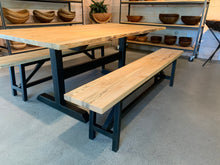 Spalted Maple Dining Table w/ Benches Set