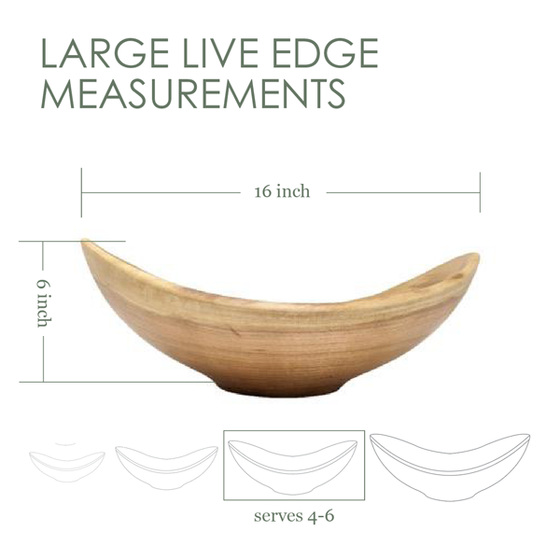 Large Live Edge (oval) Bowl